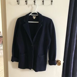 J. Crew Sweater Blazer in Navy
